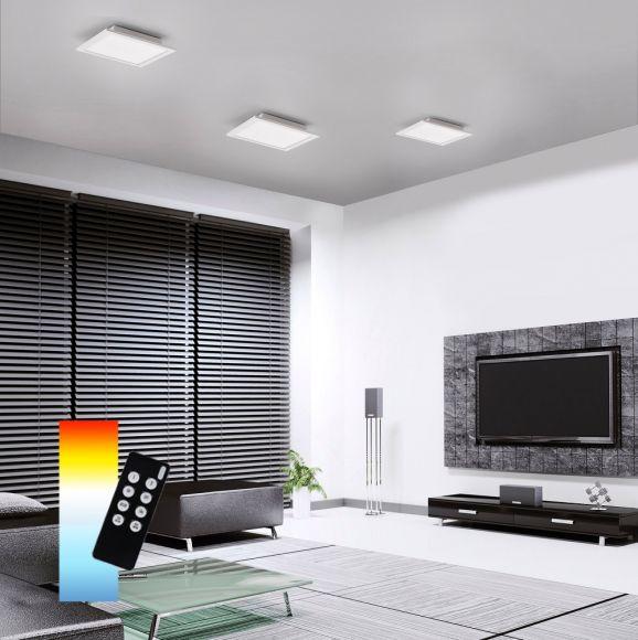 LED Panel, Deckenleuchte, Smart Home, Q-Flag, 30 x 30cm o. 62 x 62cm