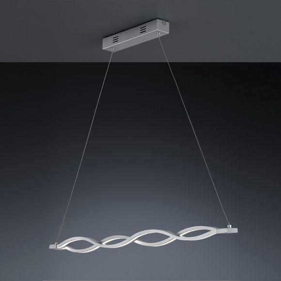 LED Pendelleuchte aus gebürstetem Aluminium und Acrylglas - inklusive 1x 21 Watt LED Leuchtmittel