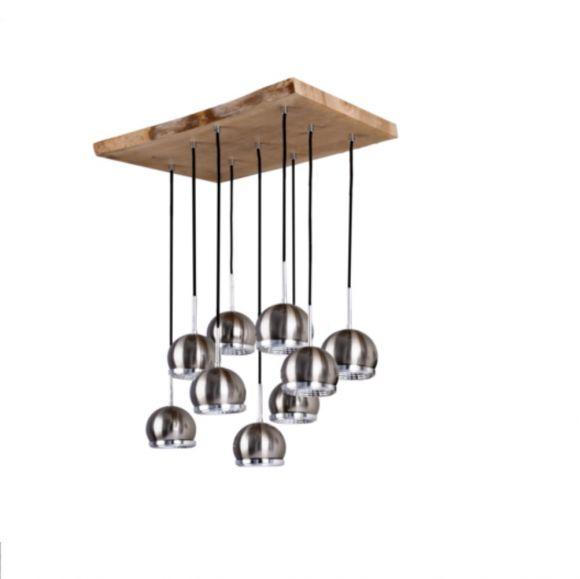 LED Pendelleuchte Ball Wood