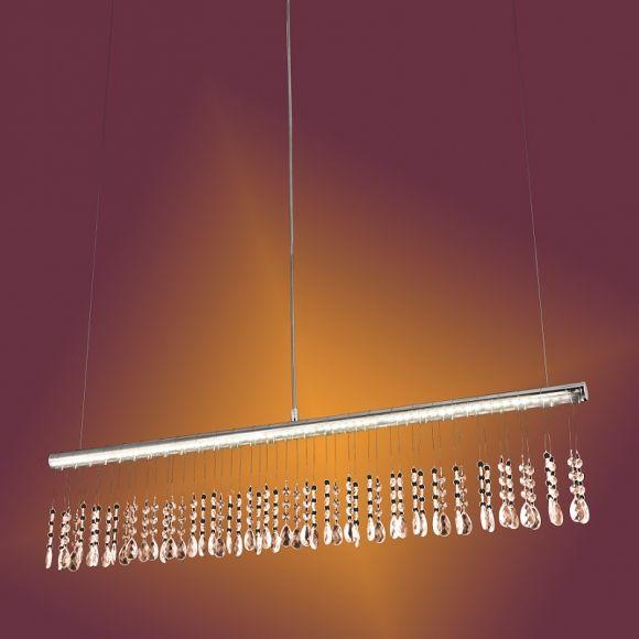 LHG LED Pendelleuchte mit Kristallbehang - LED 12W + LED Taschenlampe