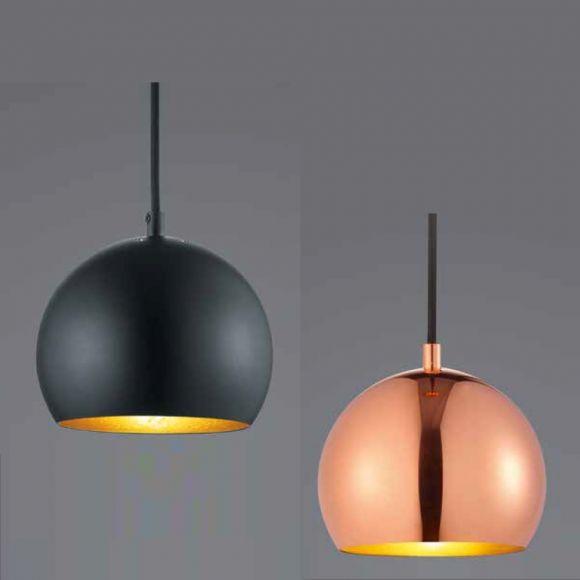 LED Pendelleuchte Pluto - Kupfer oder Schwarz