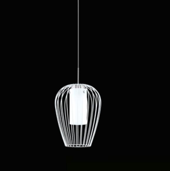 LED Pendelleuchte Vencino 1-flammig, weiß, Ø 27,5cm