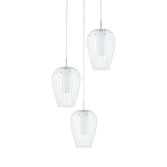 LED Pendelleuchte Vencino 3-flammig, weiß, Rondell