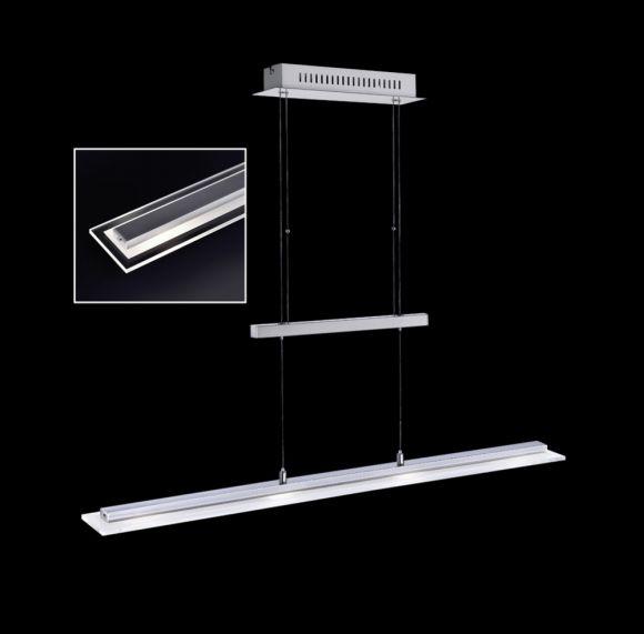LED Pendelleuchte, Fernbedienung, dimmbar, RGBW Farbwechsel, 88cm lang, höhenverstellbar