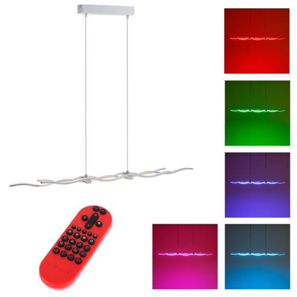 LED Pendelleuchte, Fernbedienung, Farbwechsel, Farbsteuerung