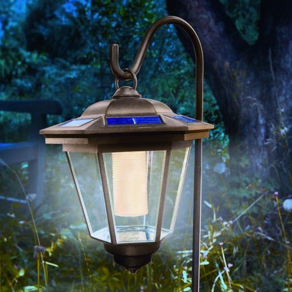 LED Solarleuchte Laterne mit Erdspieß