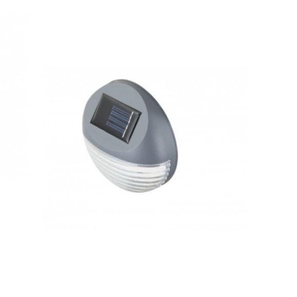 LED Solarleuchte, IP44, Kunststoff grau und transparent