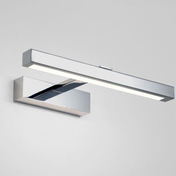 LED Spiegelleuchte, Bilderleuchte, Chrom, LED warmweiß, 2 Längen
