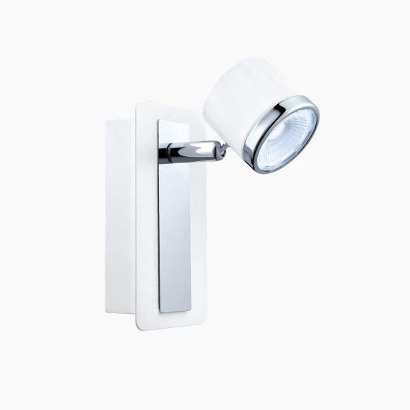 LED Spot für die Wand in Nickel oder Weiß-Chrom