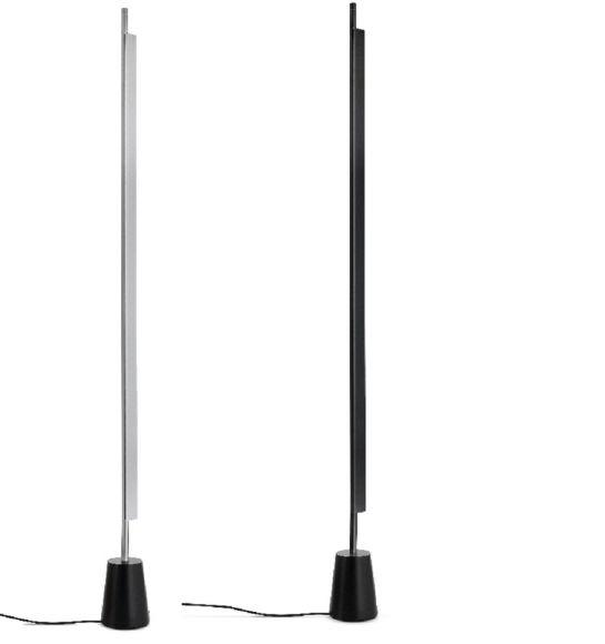 LED Standleuchte COMPENDIUM von Luceplan, LED 25Watt warmweiß, 3050lm, Oberfläche Schwarz