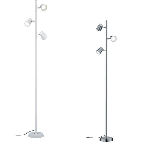 LED Stehleuchte Narcos 3-flammig - Nickel matt oder Weiß