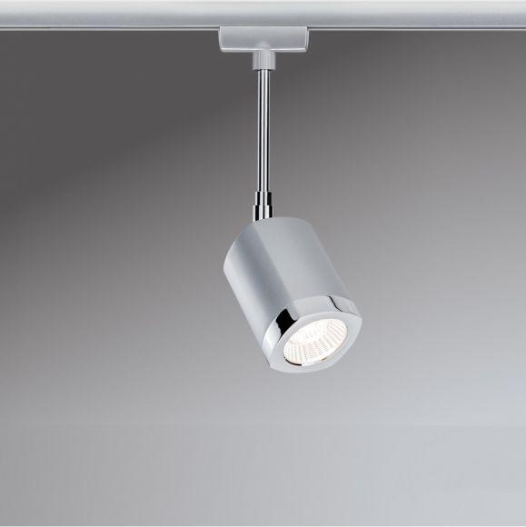 LED Strahler, U-Rail, Chrom/Chrom-matt, inkl. LED 5,4W warmweiß