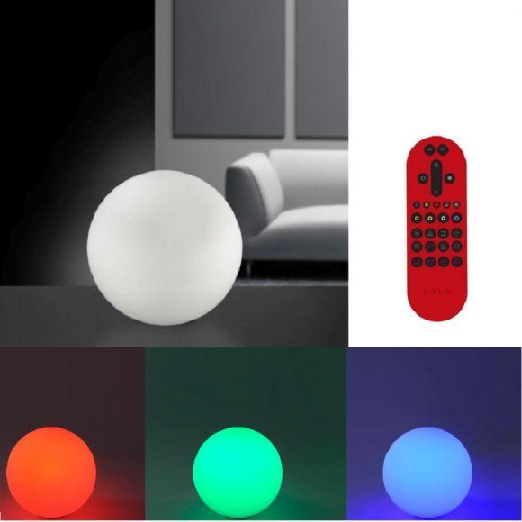 LED Tischleuchte Kugel Lola Bolo mit RGB,CCT Fernbedienung
