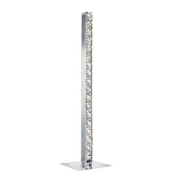 LED Tischleuchte, Chrom mit Kristallglas - LED 4,8 Watt