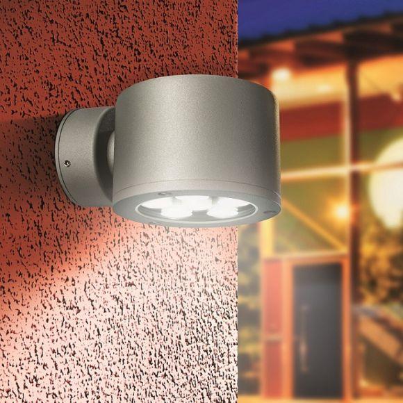 LED Wandleuchte in Aluminium-natur mit Cree-LED 8,1W