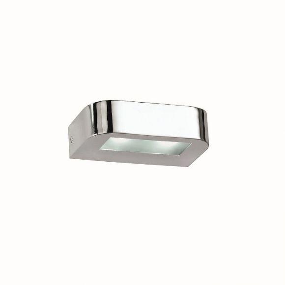 LED Wandleuchte chrom 15cm Breite