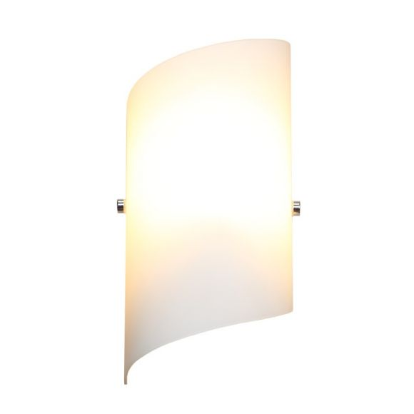 LED Wandleuchte nickel matt Glas weiß matt