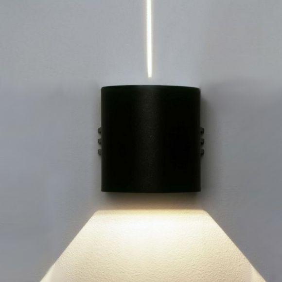 LED Wandleuchte, in 3 Farben, Lichtaustritt eng/breit