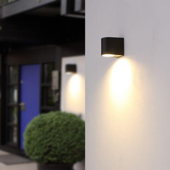 LED Wandleuchte, schwarz Aluminiumdruckguss