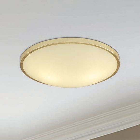 LED Wand- oder Deckenleuchte mit Goldrahmen, 21 cm