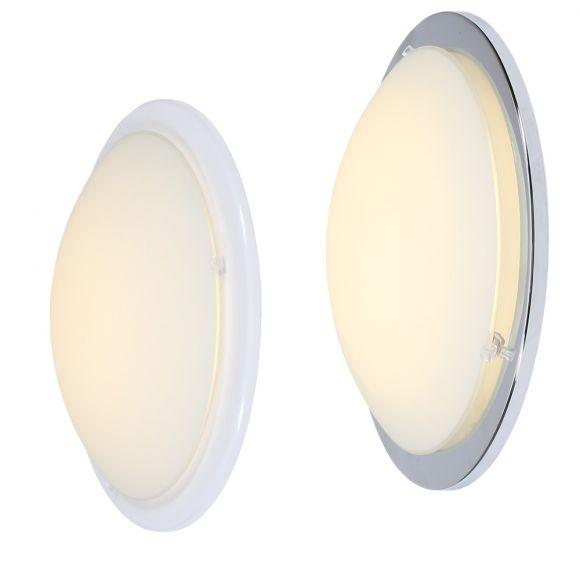 LED Wand- oder Deckenleuchte Planet in weiß oder chrom