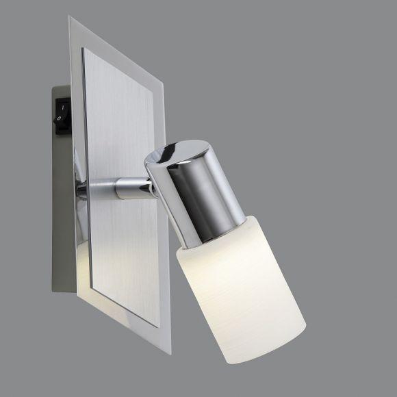 LED Wandspot schwenkbar, Aluminium und Chrom