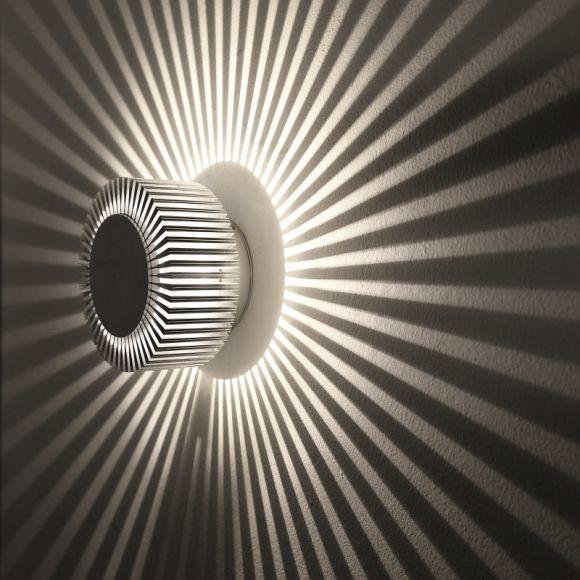 LED Wand- und Deckenleuchte Chi XL aus Aluminium