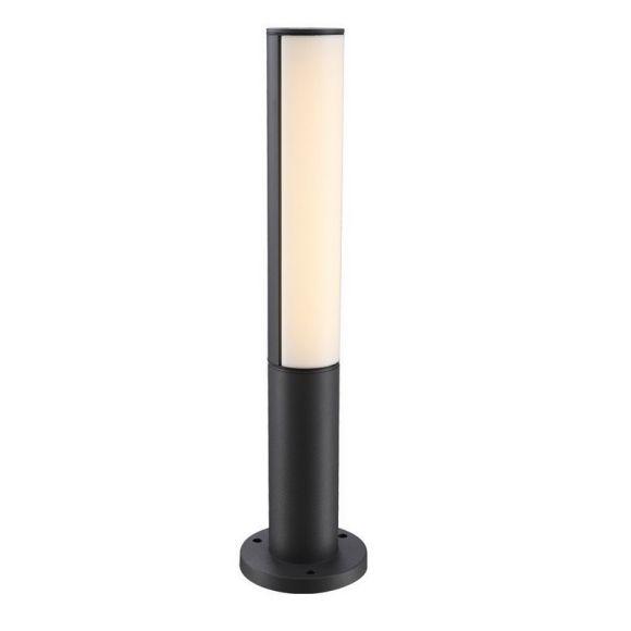 LED Wegeleuchte 50cm hoch Aluminium grau , Kunststoff