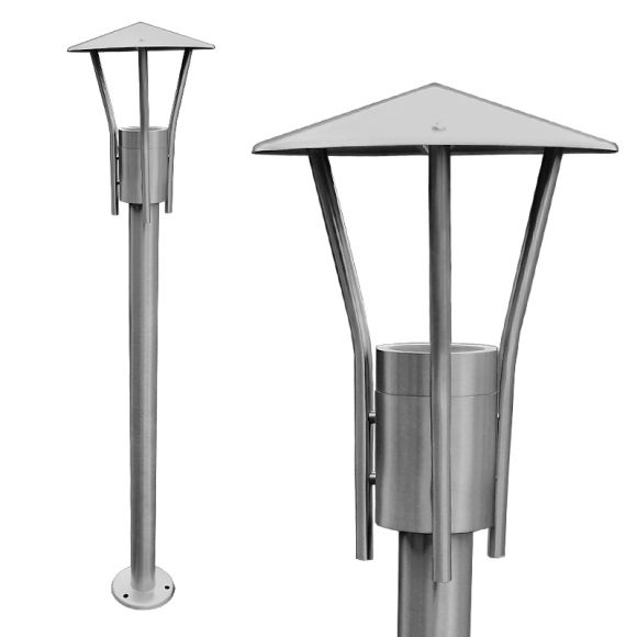 LED Wegeleuchte, Edelstahl, 80cm hoch, Gartenbeleuchtung, LED warmweiß