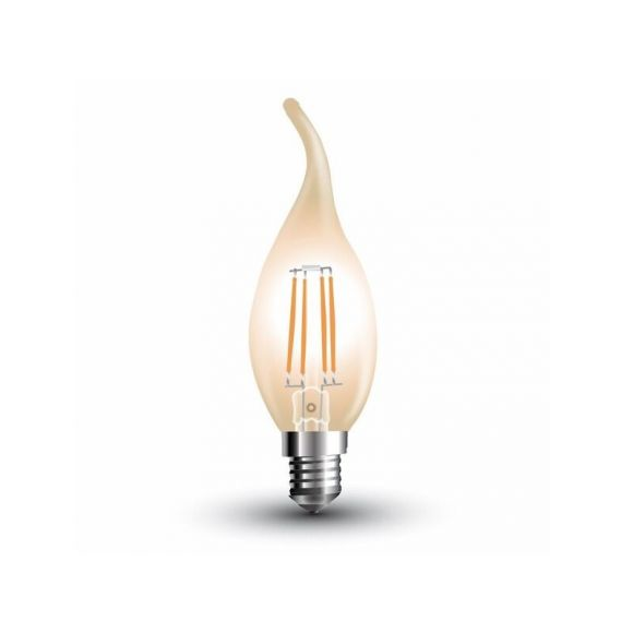 LED Windstoßkerze Filament E14, 4 Watt, 2200K amber 350lm