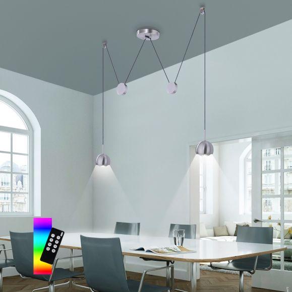 LED Zugpendelleuchte Q®-Adam - ein oder zweiflammig wählbar