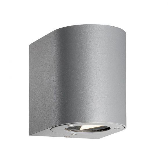LED-Außenwandleuchte, schwarz o. weiß o. edelstahl o. verzinkt o. grau