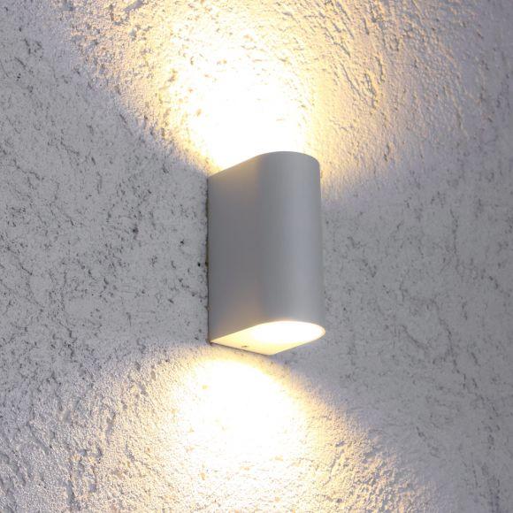 LHG LED-Außenwandleuchte weiß, inkl. LEDS und Fernbedienung