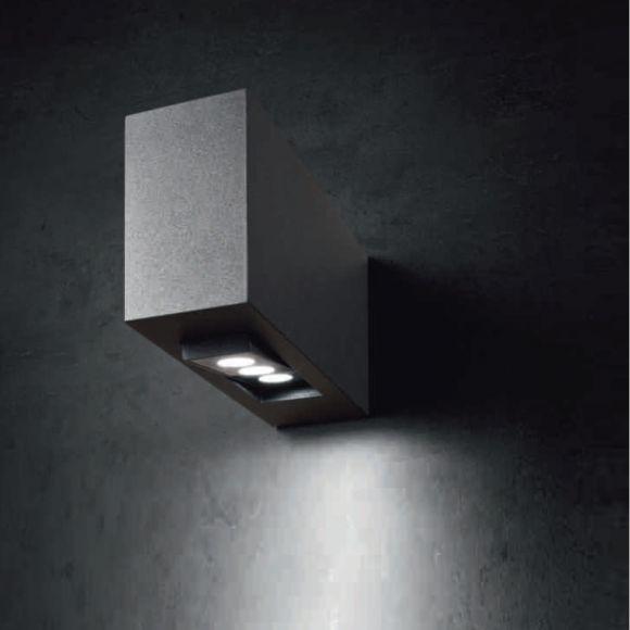 LED-Außenwandleuchte, Alu-Druckguss grafit, LED 1x9Watt