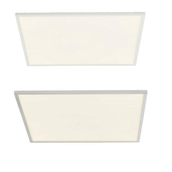 LED-Aufbau-Panel Ceres 45 x 45 cm - Weiß oder Nickel satiniert