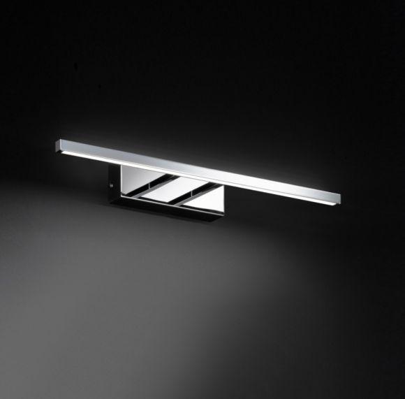 LED-Bilderleuchte, Chrom glanzend, schlicht modern, 59,5cm o. 45,5cm lang