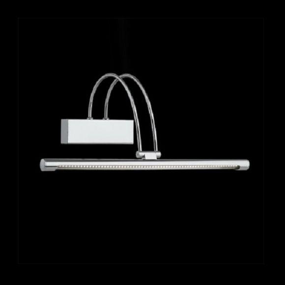LED-Bilderleuchte Länge 46cm in Chrom oder Nickel