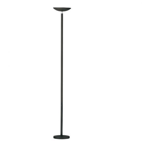 LED-Bürostehleuchte, Schwarz, schwenkbare Fluterschale, 185cm hoch