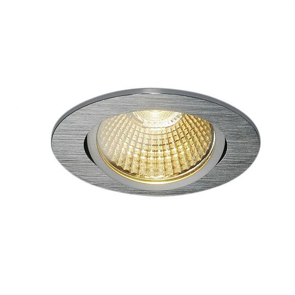 LED-Deckeneinbauleuchte New Tria alu