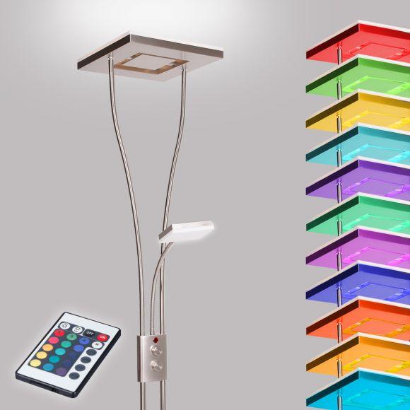 LED-Deckenfluter mit RGBW Farbwechsel per Fernbedienung