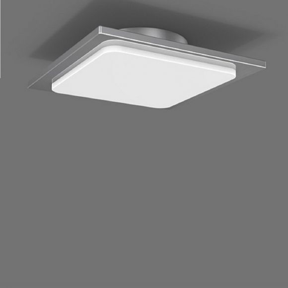 LED-Deckenleuchte 30 x 30cm - in Chrom - Arcyl weiß