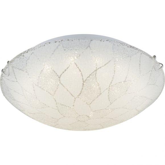 LED-Deckenleuchte in Ø30cm oder Ø40cm, opales Strukturglas geeist