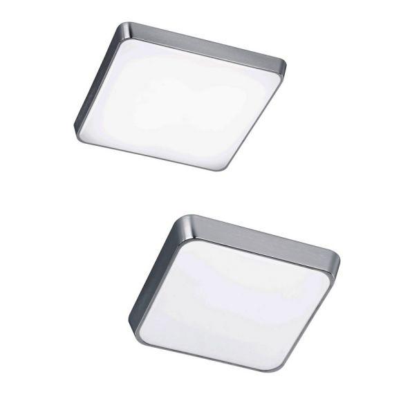 LED-Deckenleuchte in Alu-gebürstet, Kunststoff, 2 Größen