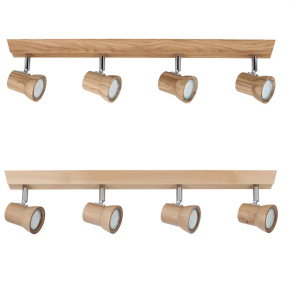 LED-Deckenleuchte aus Holz, in zwei Ausführungen, inkl. Leuchtmittel