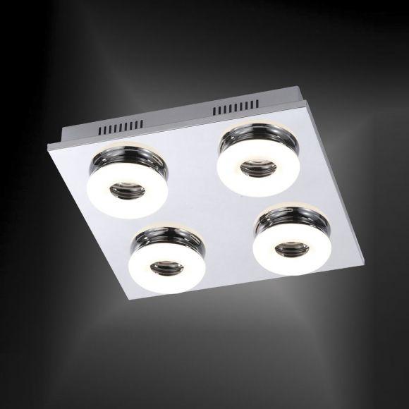 LED-Deckenleuchte Chrom /Glas - 4 x 4,2Watt LED