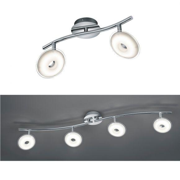 LED-Deckenleuchte in Chrom mit Acrylglas - 2- oder 4-flg