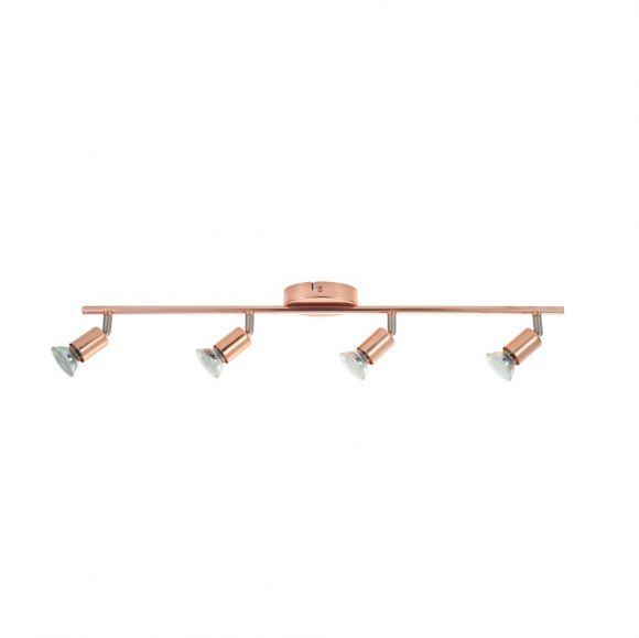 LED-Deckenleuchte in kupferfarbig, 4-flammig