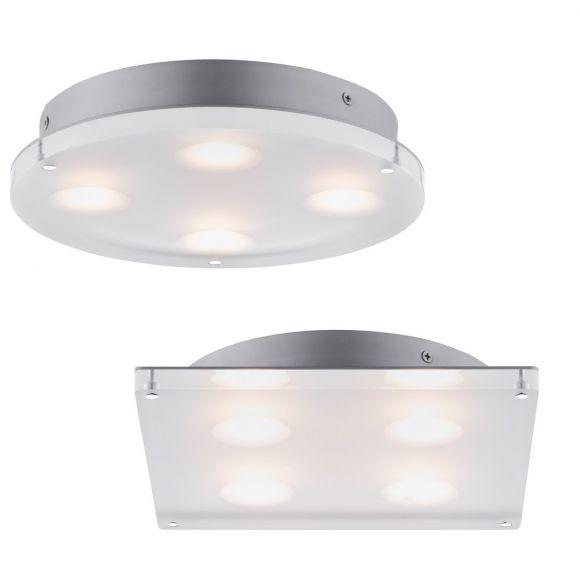 LED-Deckenleuchte Minor in rund oder eckig, Acryl satiniert