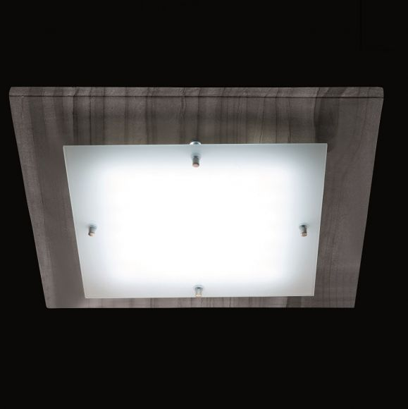 LED-Deckenleuchte mit 16,8Watt LED - Decor-Blende wählbar