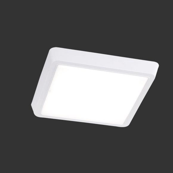 LED-Deckenleuchte mit weißem Acrylglas, 27 x 27 cm